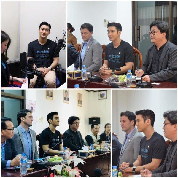Siwon été présent au Leo National Radio et il leur a donner le nouvelle album des Super Junior version Siwon