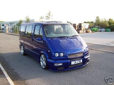 ford transit sport bleu métal