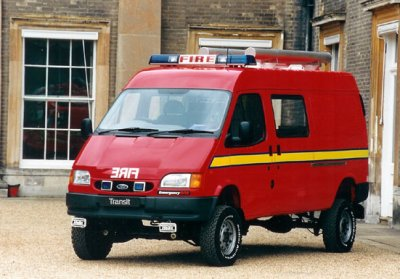 transit 4x4 de pompier