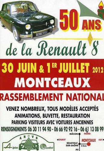 .les 50 ans de Renault 8 à Montceaux ( 01 )