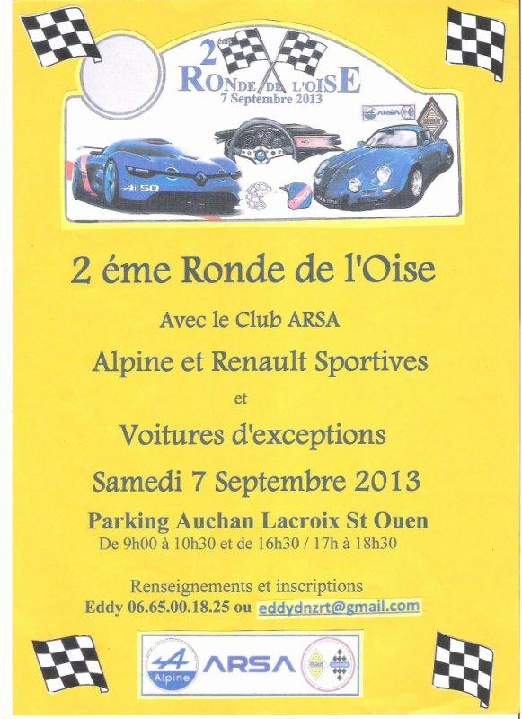 2éme Ronde de l'Oise Samedi 7 Septembre 2013