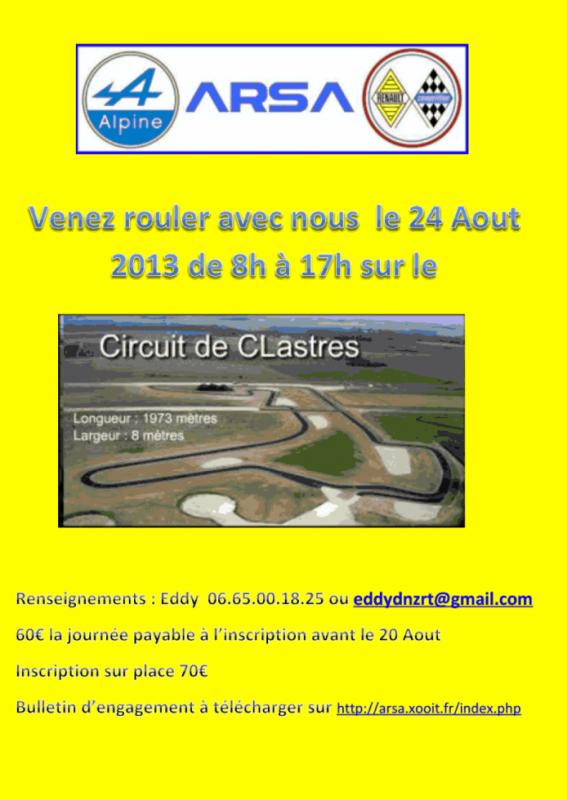 Journée Circuit à Clastres ( 02 ) le 24 Aout  2013