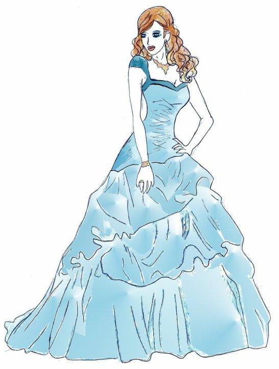une robe bleu !!