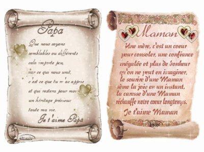 Lettre Pour Mon Papa Et Ma Maman Blog De Belle Musulman