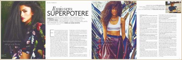 Zendaya Coleman est dans le magazine Grazia Italia numéro 28 du 29 juin 2017 !
