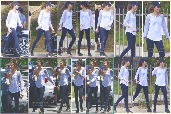 Le 29/05/17, Zendaya a été vue se promenant avec des amis dans Los Angeles.