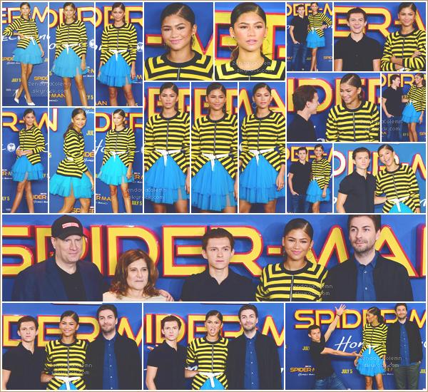 Le 15/06/17, Zendaya et Tom étaient à un photo call pour Spider Man - Londres.