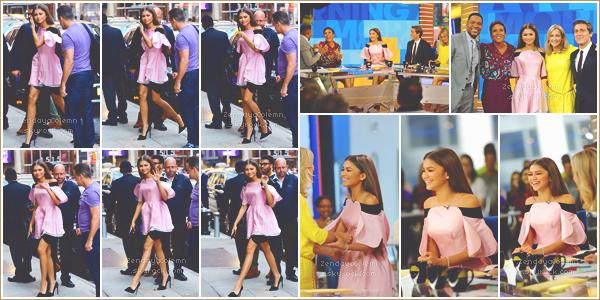 Le 20/06/17, Zendaya était dans Good Morning America pour le début de la promo - NY.