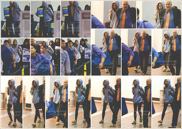 Le 26/06/17, tôt le matin, Zendaya a été photographiée arrivant à LAX - Los Angeles.