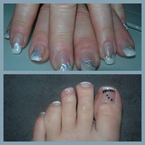 mes 1ères  poses pendant cette formation : mains et pieds : LES MIENS!!!!!