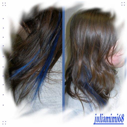 extensions bleu nuit