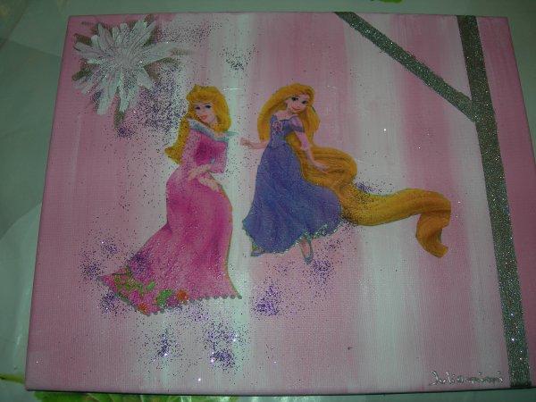 demande pour faire un tableau de princesse du coup j'ai ouvert un blog pour mes tableaux : juliamimitoile, allez y faire un petit tour !!!