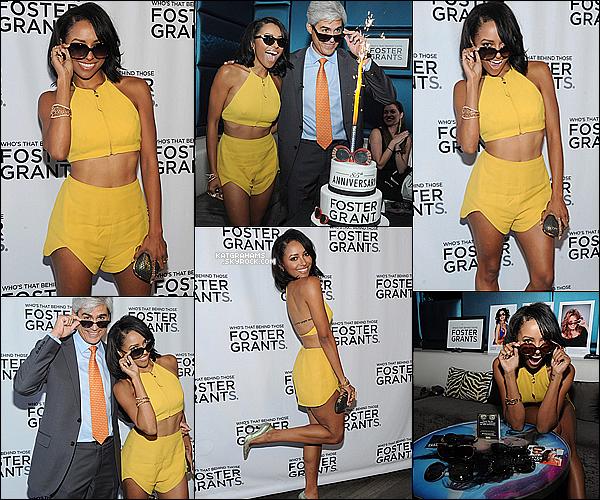 """17.07.14  Kat était présente à la célébration du 85e anniversaire d'une marque. Marque de lunettes de soleil """"Foster Grant"""" qui se déroulait plus exactement  a  New York. Elle est vraiment magnifique dans cette tenue."""