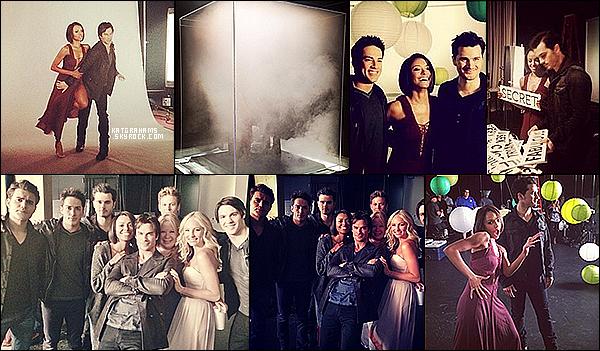 Behind the scene des photoshoots pour la saison 6 de Vampire Diaries.