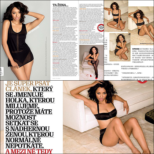 Kat apparaît dans le magazine Esquire Ceska republika (République tchèque)