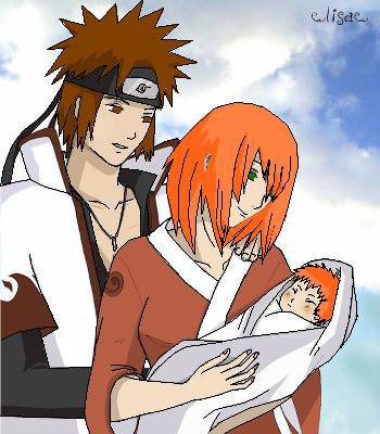 Kero, Samya et leur bébé Léo