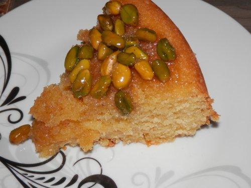 Gâteau au miel et aux pistaches