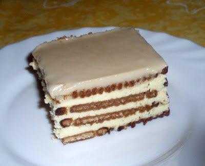Gâteau pudding de petits beurre