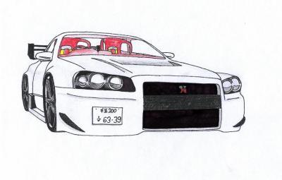 Dessin drift tuning voiture - Voiture profil dessin ...