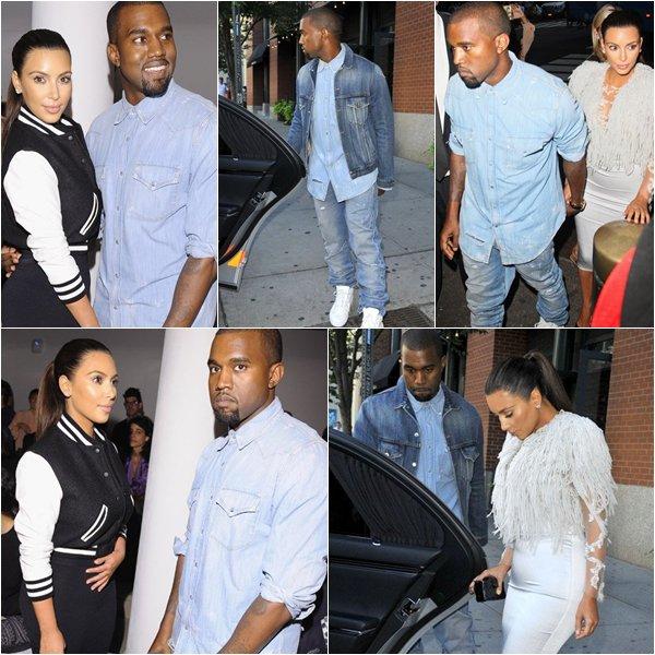 Kim Kardashian and Kanye West New York Fashion Week