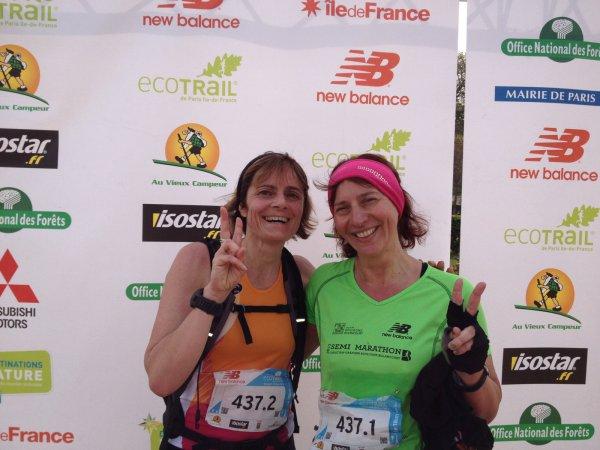 résultats de l'Eco Trail de Paris