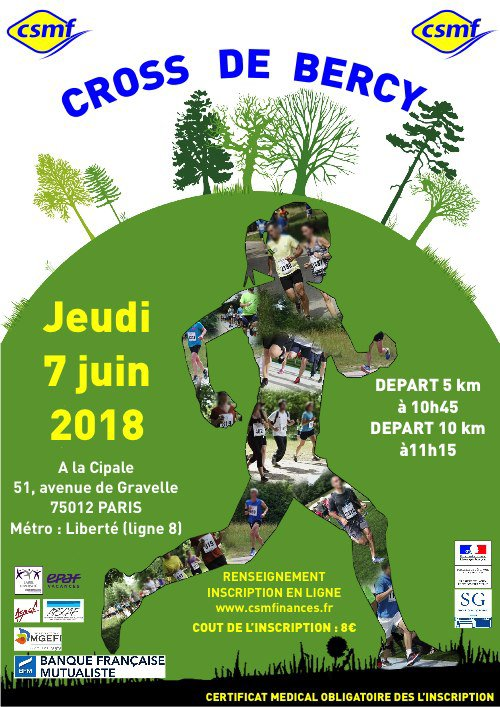 Résultat du 5 km du cross de Bercy