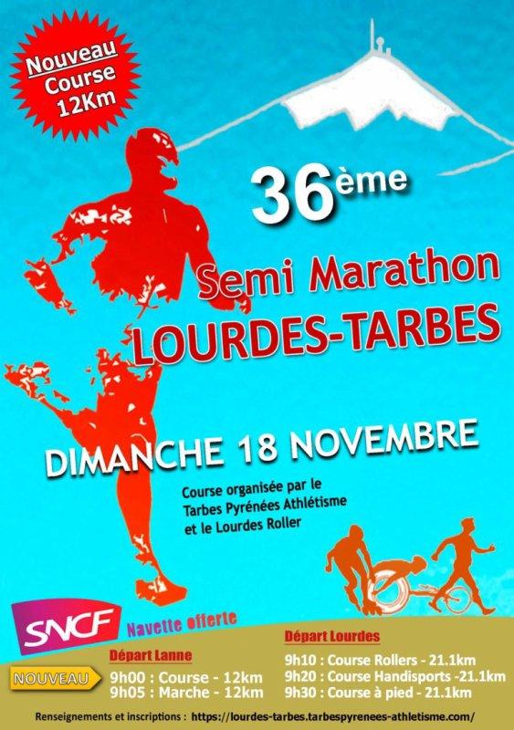 Résultat du semi marathon de Lourdes Tarbes
