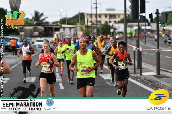 résultat du semi marathon de fort de Ffrance