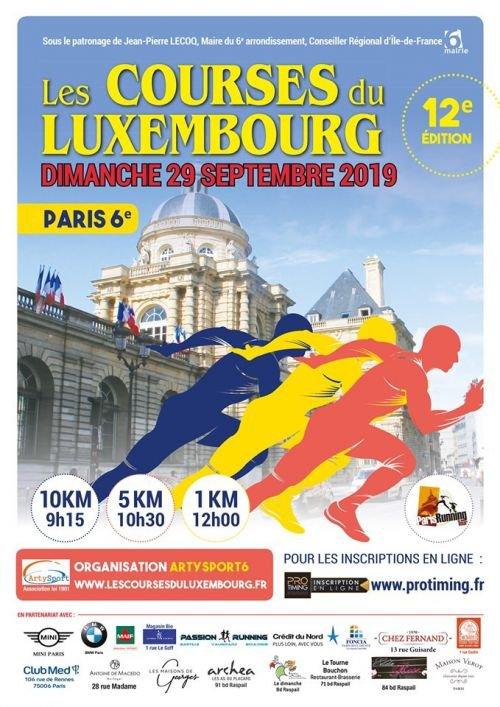 Résultats du 5 et 10km du parc du luxembourg