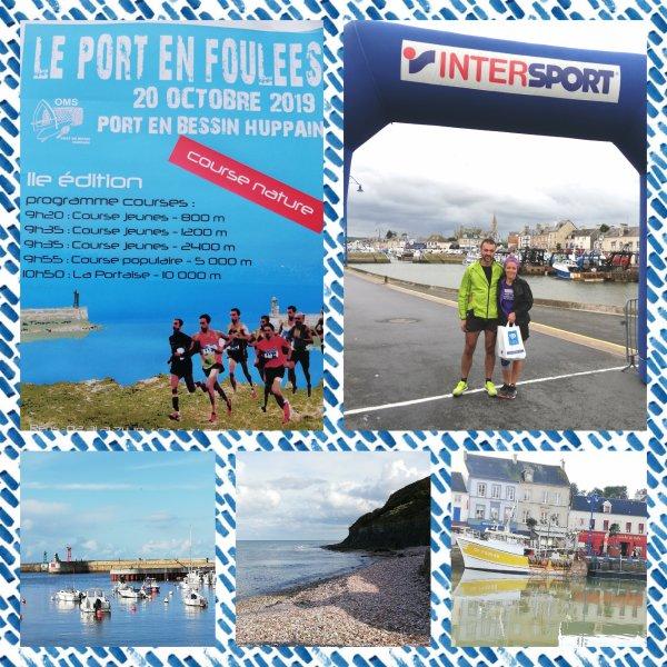 résultat des foulées de Port en Bessin en Normandie