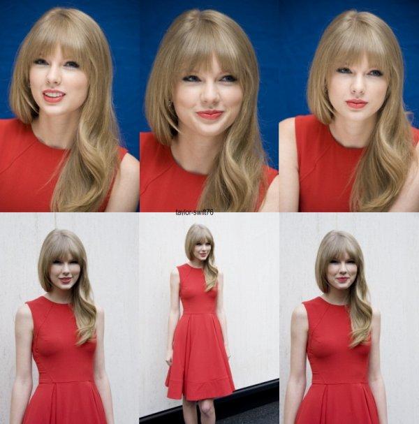 """Taylor lors d'une conférence de presse pour le film """" 'The Lorax """""""