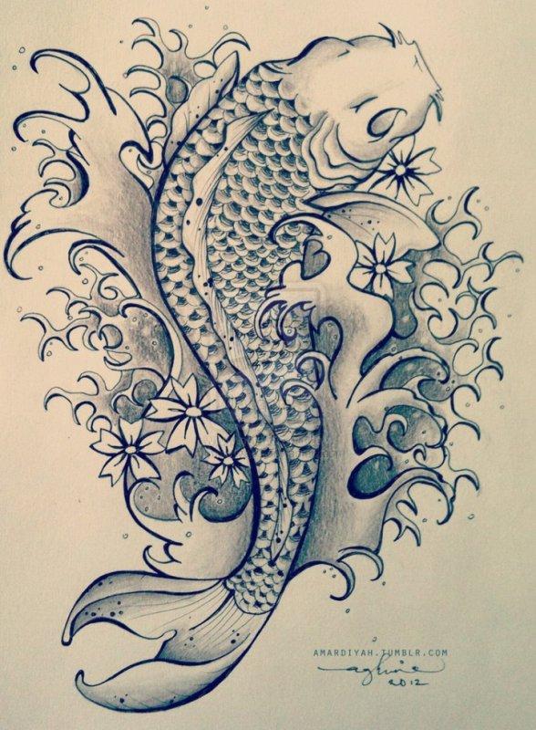 Koi Fish Tattoo Meanings Olialchimists Blog