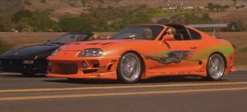 Les voitures de Fast and Furious 1