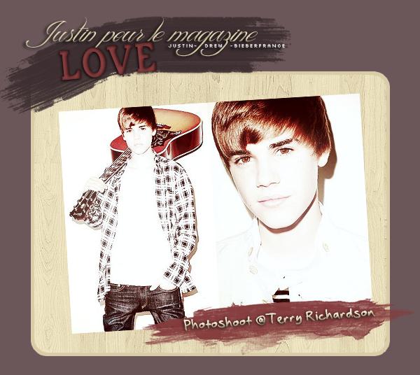 . PHOTOSHOOT :2 nouvelles photos de Justin, dans le magazine Love. Justin est, comme toujours.. totalement #SWAG haha ♥ .