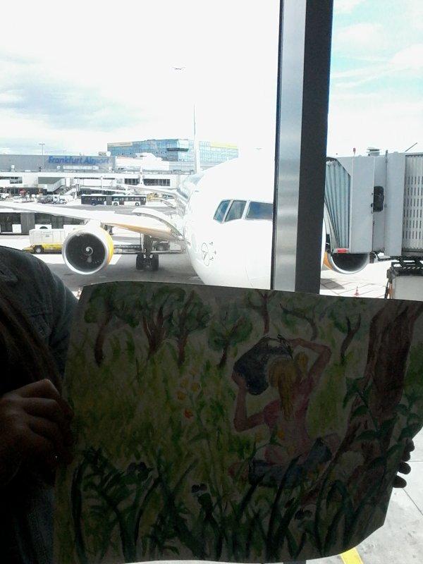 Preuve que j'ai fait ce dessin dans un aeroport, respecter moi please