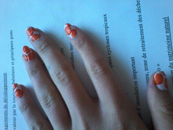 Vernis rondelle d'orange