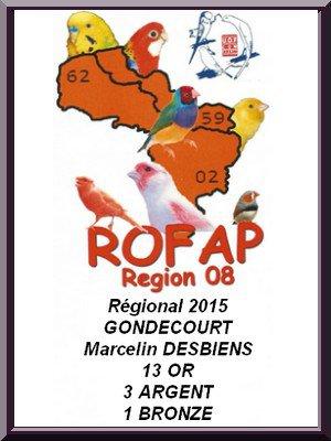 Régional UOF  R08  2015 GONDECOURT