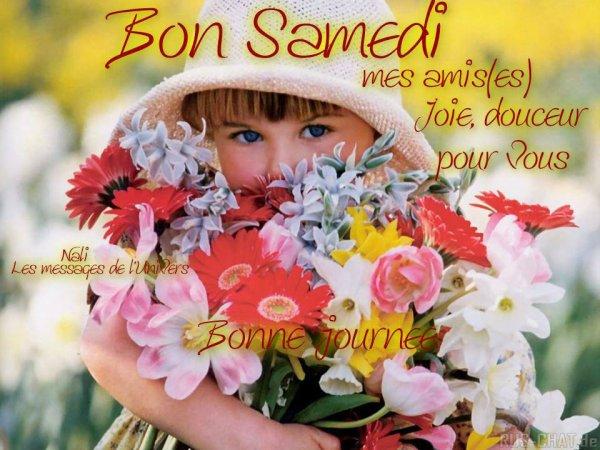 Je vous souhaite une très belle journée de samedi malgrés le temps tristounet gros bisous mes amis