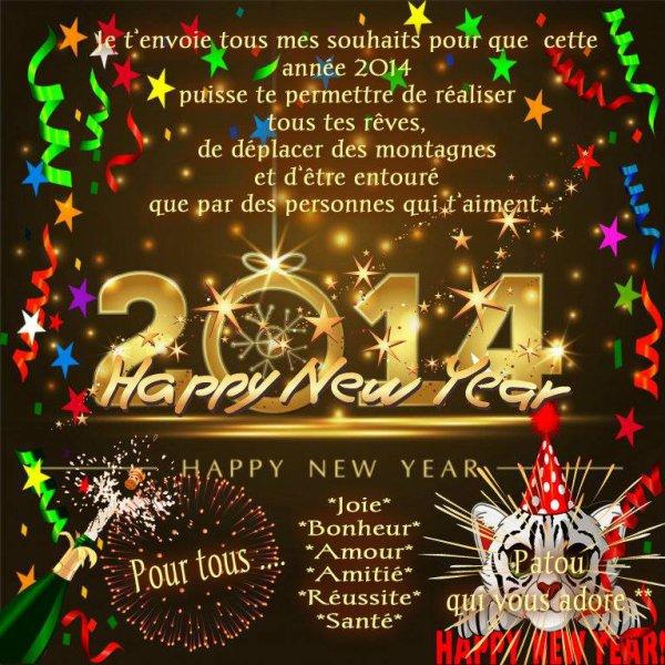Bon réveillon et très bonne année à tous mes amis gros bisous