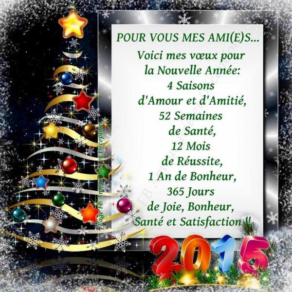 Très bonne année à vous mes chers amis