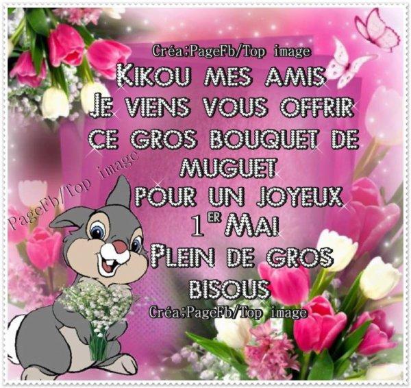 Très bon 1er Mai à vous mes chers amis bisous