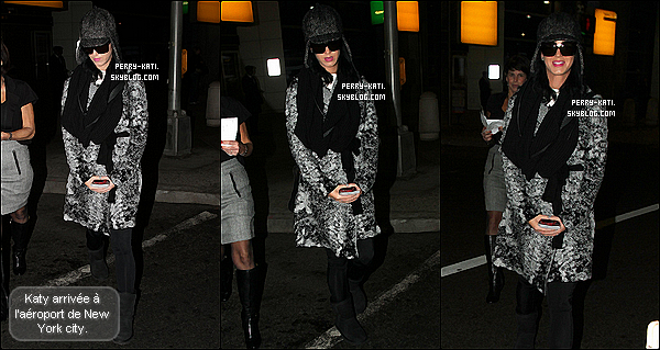 15 Novembre: Katy Perry à l'aéroport de Heathrow à Londres. Direction: New York City !