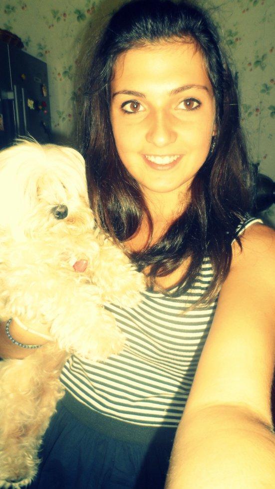 Avec Bélia (a une amie)