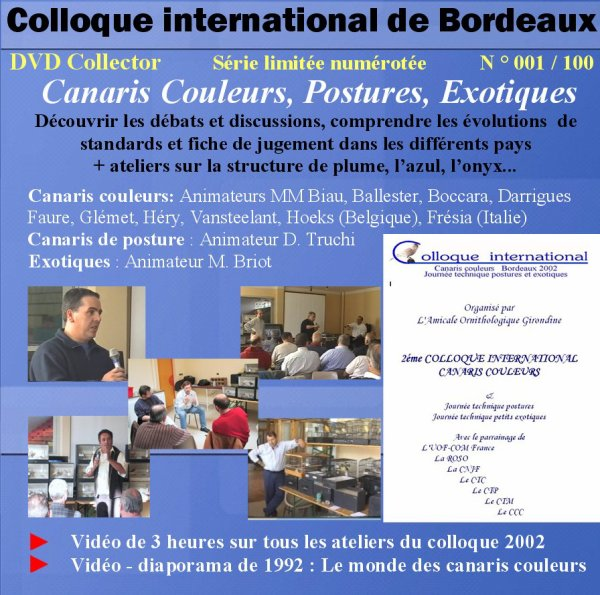 1992 - 2002 - 2012: LE DVD COLLECTOR DU COLLOQUE DE BORDEAUX DISPONIBLE