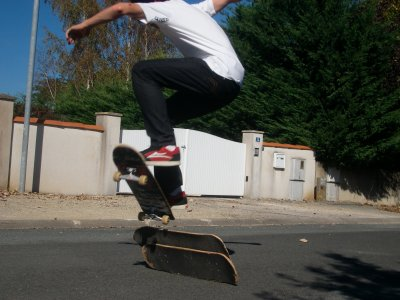 skate ollie 2 planches