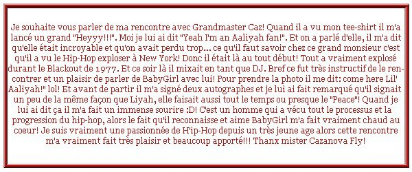 Ma rencontre avec Grandmaster Caz: why? Cause he loves Aaliyah!!!!!