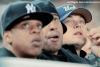 CANDIDS // Léo à un match des Yankees en compagnie de Jay-Z le 19 Octobre, à New York.