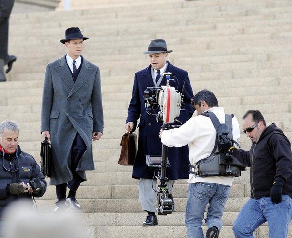 J.EDGAR // Léo & Armie Hammer en tournage ce 28 Mars en Virginie.