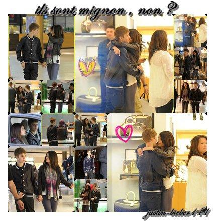 Justin et Selena  font les boutiques  ; le 1 mars 2011