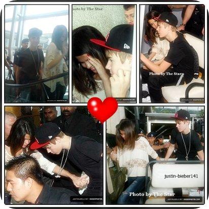 Justin & Selena on ete aperçu a l'aeroport kia en asie du sud.